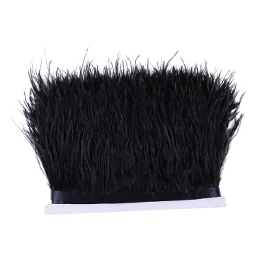 1Meter 8-10cm Ostrich Feathers Trim Fringe for Party Wedding Dress Skirt Decoration Sewing Crafts Ostrich Plume Ribbon Wholesale