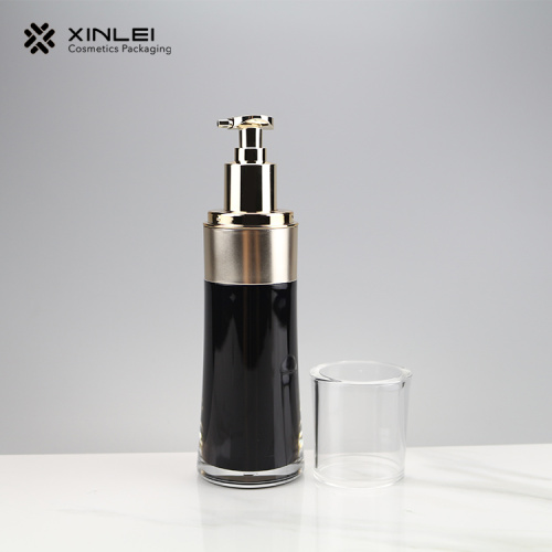 Black Acrylic Cosmetic Packing Lotion Bottle with Pump