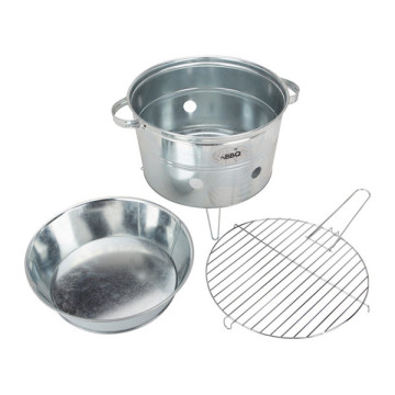 Portable Bbq Bucket Galvanized Oval Outdoor