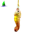 Home Decoration Glass Hanging Gold Sea Horse Ornaments