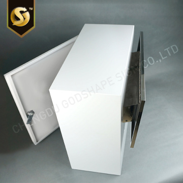 Modern Wall Mounted Customzied White Mailboxes Letterboxes