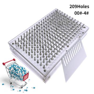 YTK 000#00#0#-4#209 Hole Capsule Filling Plate / Capsule Filling Machine Manual Capsule Filling Machine Manual Capsule Machine