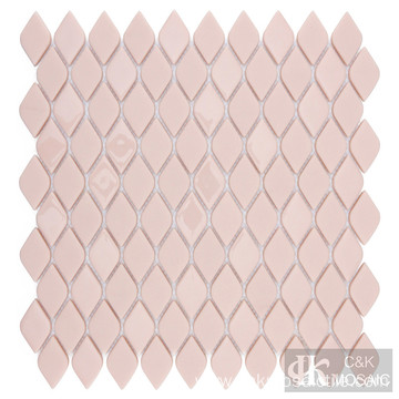 Pink glass tiles bathroom