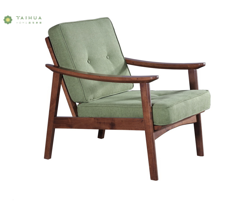 Solid Wood Arm Chair Leather