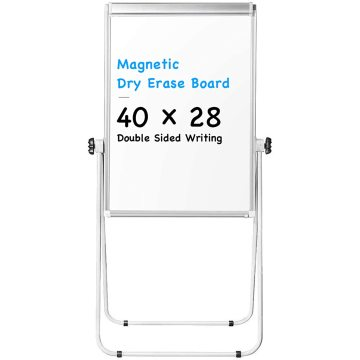 Double Sided Adjustable Flip Chart Easel for Presentation