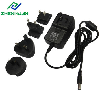 12V 2A avtakbar strømadapter for LED CCTV