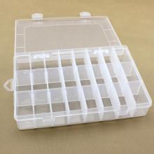 24 grids Removable Plastic Storage Box Transparent Storage Organizer button box Multifunctional Sundries Jewelry Storage Box
