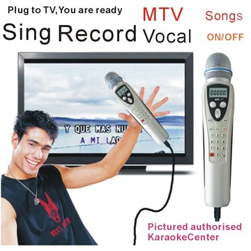 Russian Karaoke Player Miagic Karaoke Micorphone System, Portable Sing Machine. One step add more song.