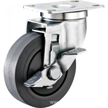 "4"" Side Brake Industrial TPR Caster"
