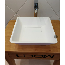 Stone resin countertop washbasin for bathroom