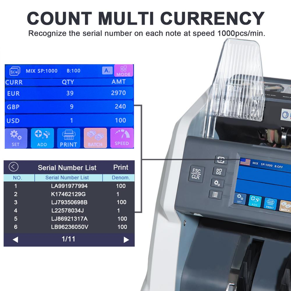 Mixed Counting Bill Counting Machine