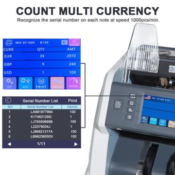 Multi Currency Value Counting Machine