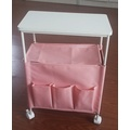 Pink Side Wagon  Storage Rack, Oxford Fabric bags