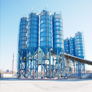 Layout large HZS120 low cost concrete batching plant