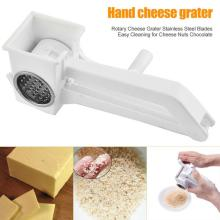 Rotary Cheese Grater Kitchen Helper Tools Blades Stainless Steel Cheese Grater Cheese Tools Kitchen Accessories