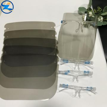 Anti-UV high transparency PLA face shield film
