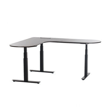 3 Legs Lift desk White L Shaped Desk