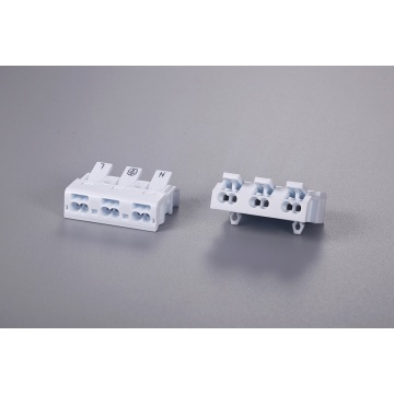 3 Poles Minitype Wire Connector With Fixed Foot