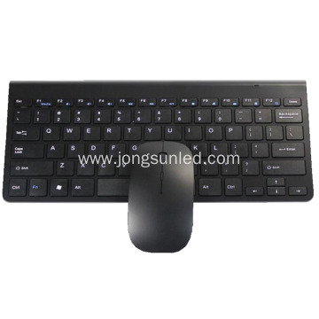 A Black Wireless Keyboard And Mouse For Laptop