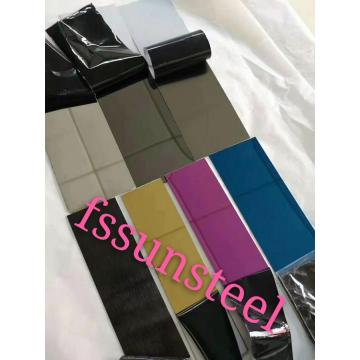 SS 8K seven colors decorative sheets