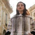Winter Reversible Fur Cross Women Overcoat