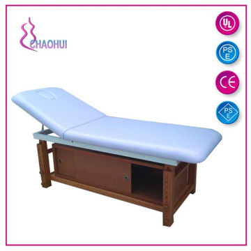 bed for massage therapy  with storage