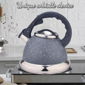 Grey Stainless Steel Whistling Tea Kettle