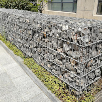 2*1*1M Galfan Welded Gabion Retaining Wall with Fence