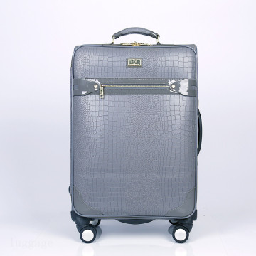 new design cheap 24 PU vintage trolley bag