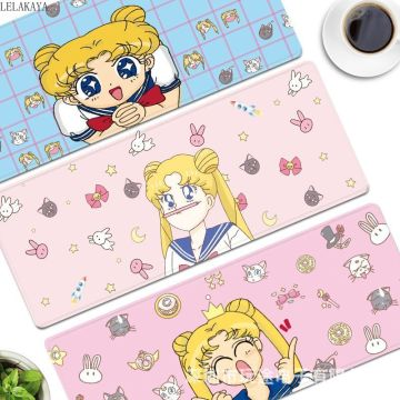 Sailor Moon Action Figure Printed Cartoon Computer Laptop Mouse Keyboard Pad Card Captor Sakura Luna Cat Waterproof Table Mats