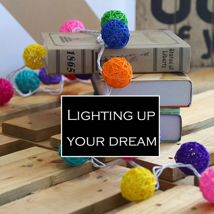 rattan ball wedding string light