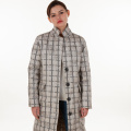 Modische Plaid-Daunenjacke
