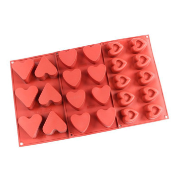Heart-shaped Silicone Baking Mold