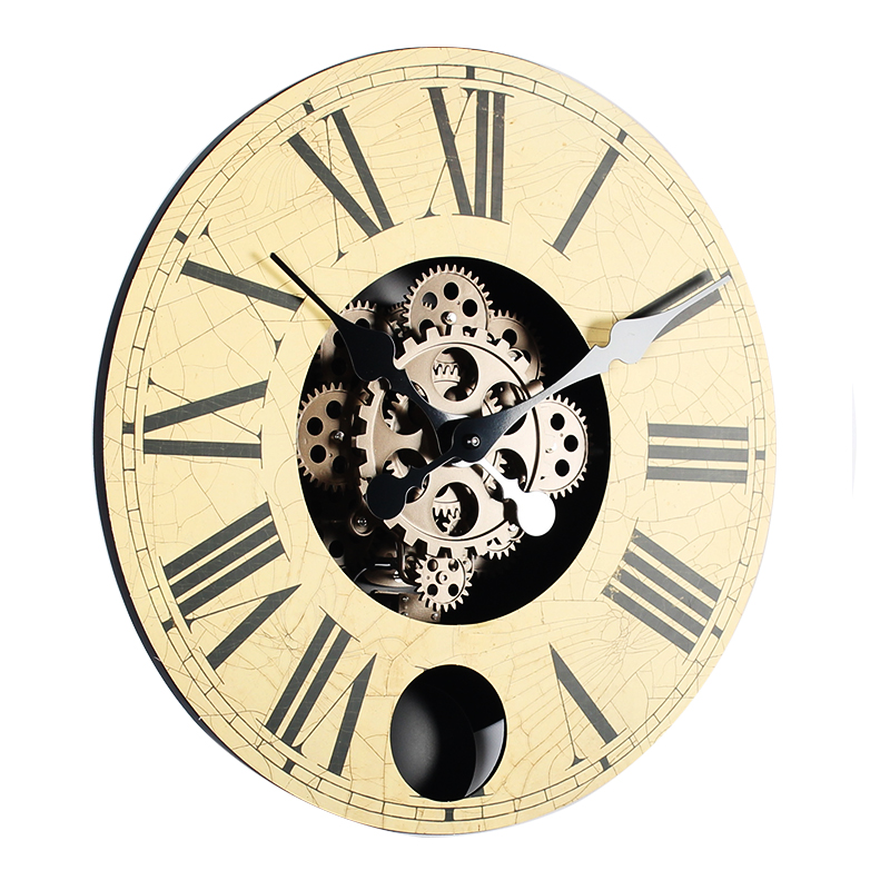 Pendulum Wooden Wall Clock