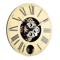 Pendulum wooden wall clock for wall decoration