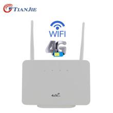 TIANJIE Unlocked 3G 4G CAT4 LTE WiFi Modem CPE Router Home Hotspot Dual Antenna LAN Port RJ45 Wireless With Sim Card Slot
