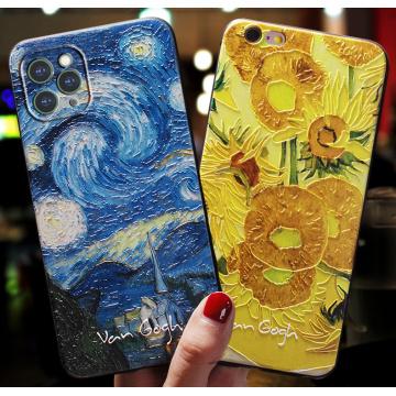 For Coque Apple iphone 11 Pro 7 8 6 s 6s 7plus 12 mini XS Max Case Cover For iphone X XR 7 8 Plus 5 5s SE 2020 Art Black Cases