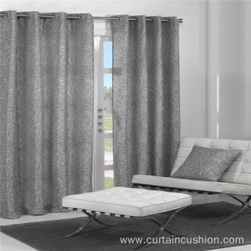 Leaf Pattern Jacquard Curtain