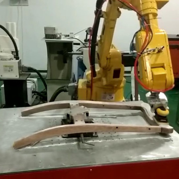 Wood chairs grinding sanding industrial robot