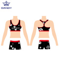 Sublimation cheer sport bra ва кӯтоҳ