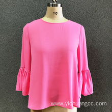 women's polyester pink fashion blouse