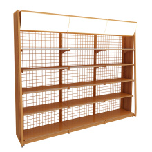 Wholesale Single-Sided Steel And Wooden Display Shelves