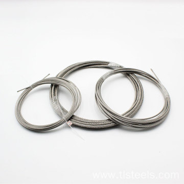 Factory Price 4mm Stainless Steel Wire Rope 7*7