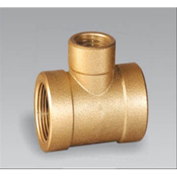 Brass pipe fitting brass Female Reducing Tee