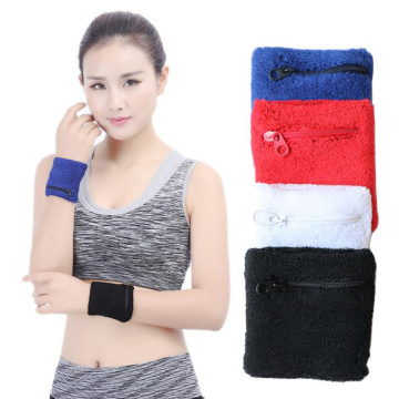 1Pcs Sweat Sports Bracelet Zipper Wrist Pouch Useful Fitness Arm Band MP3 Card Storage Bag Badminton Case Basketball Bracelet