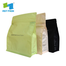 biodegradable digital printing kraft paper coffee bags with valve