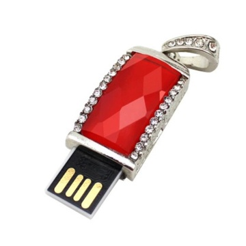 Ruby Red Jewelry Necklace Usb Flash Drive