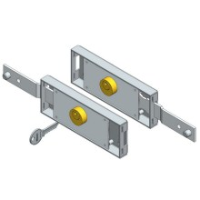 Shifted Bolt Roller Door Lock Set