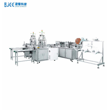Fully automatic 3-ply 1+1 medical mask making machine