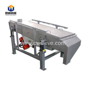 Linear gyratory vibrating screen sieving for coffee beans